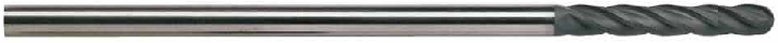 3/8 Diamond Coated Extra Long Ball End Mill